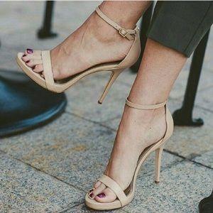 Sam Edelman Ariella Heel Sandals in Classic Nude